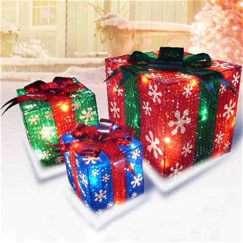 3 d prismatic presents lighted set lighted outdoor