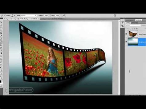 tutorial photoshop cs5 efecto de fotografía entretejida como hacer el efecto cinta de pelicula para las fotos en