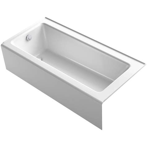 bellwether bathtub bootz industries honolulu 46 1 2 in left hand drain soaking tub in white 011 2379 00