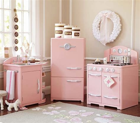 kitchen collections com pink retro kitchen collection pottery barn kids