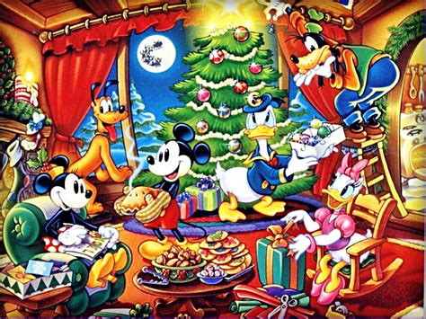 Duck Wall Stickers walt disney wallpapers the disney gang christmas