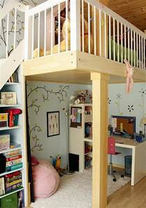 Toddler Bedroom With Play Area Loft Bed With Study Desk And Play Area Underneath
