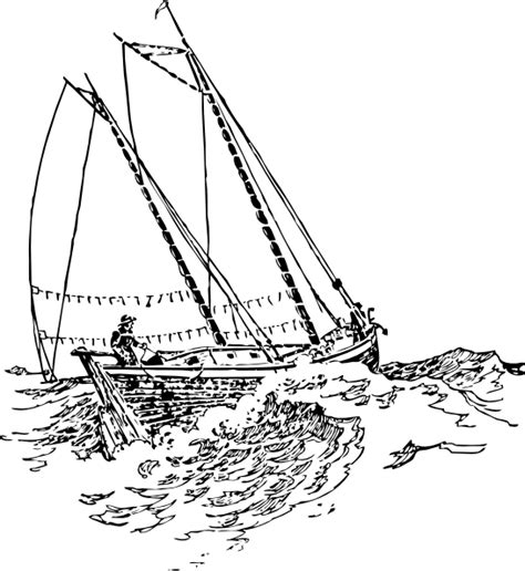 boat waves drawing boat sailing in strong waves clip art at clker