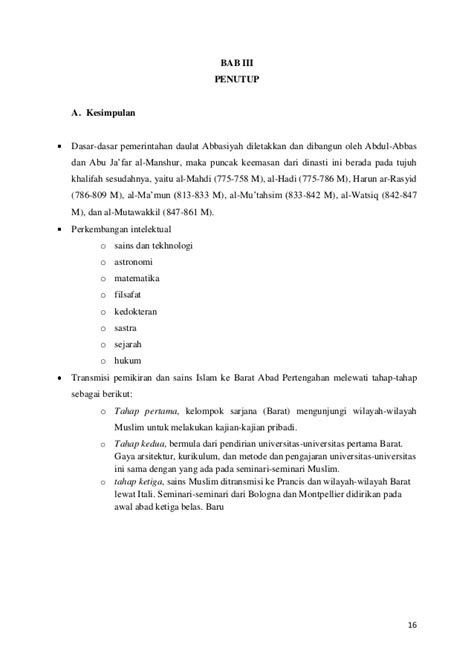 Sari Sejarah Filsafat Barat Harun Hadiwijono makalah dinasti abbasiyah