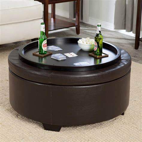 leather ottoman coffee table storage leather storage ottoman coffee table coffee table design