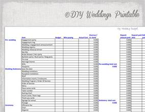 Printable Wedding Budget Template Wedding Budget Spreadsheet Printable Wedding Budget Template