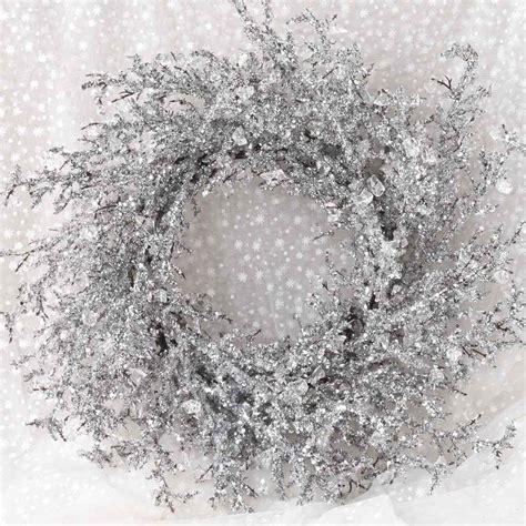 icy crystal wreath  lisa robertson christmas wreaths crystal decor christmas wreaths