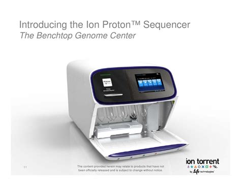 Ion Proton by The Benchtop Next Generation Sequencer Ion Proton