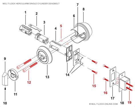 schlage deadbolt parts diagram deadbolt lock parts diagram
