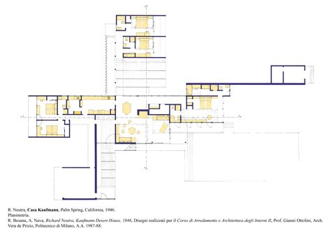 kaufmann house floor plan coloring a plan layout atlas of interiors