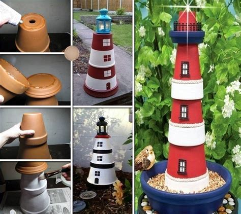 Easy to make clay flowerpot people bring life to your garden
