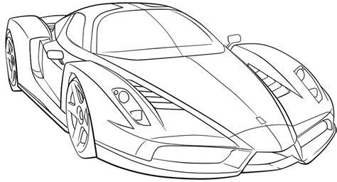 car coloring page outline ferrari sport car high speed coloring page ferrari car