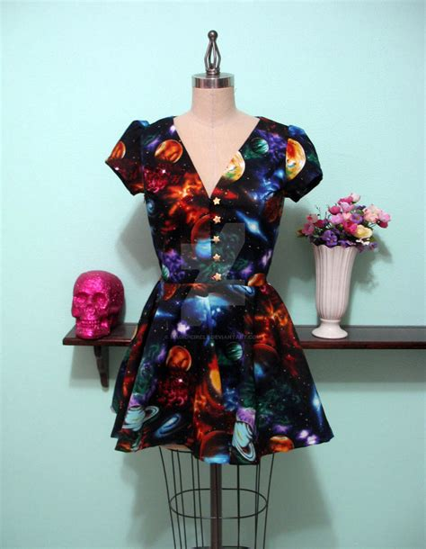 Magic Locke space print locke dress by magic circle on deviantart