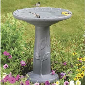 duncraft com flower bird bath