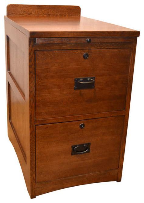 Mission Solid Oak 2 Drawer File Cabinet   Craftsman