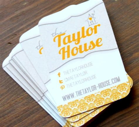 card blogs with business cards the house