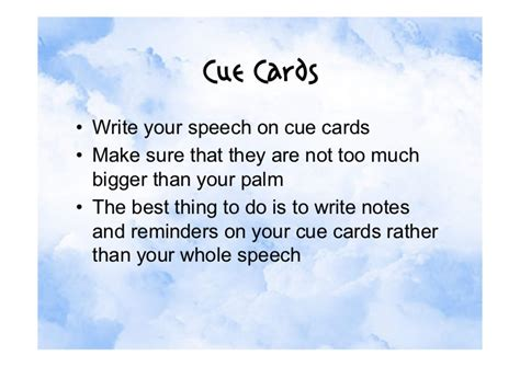 make cue cards free speeches