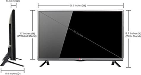 80 Inch Tv Dimension by View Site