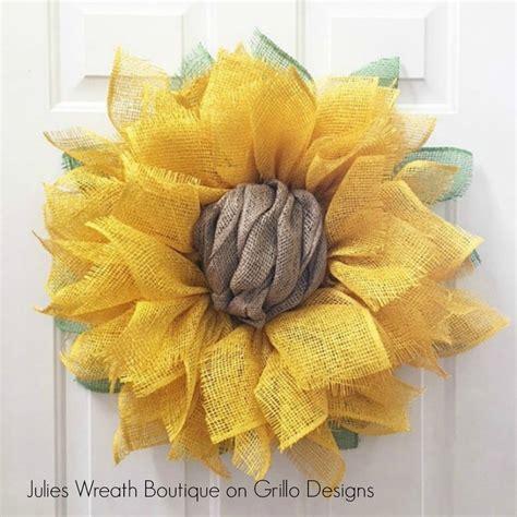 diy wreath diy sunflower wreath craft