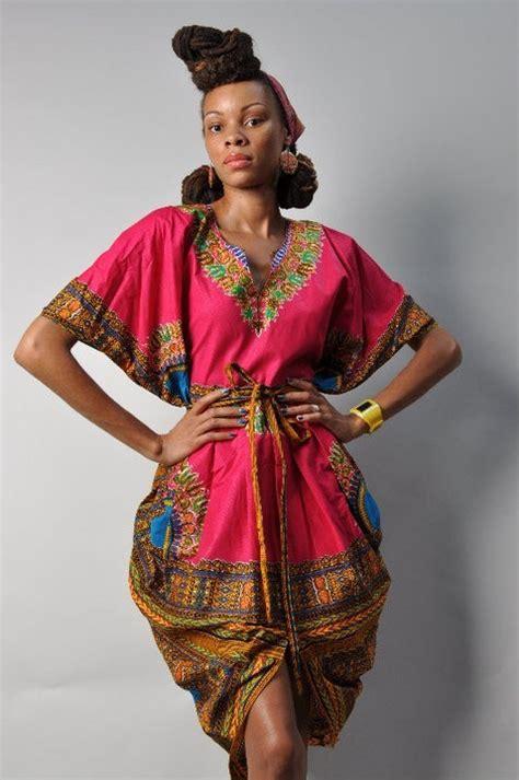 Wst 7268 Ethnic Dress Brown dashiki on
