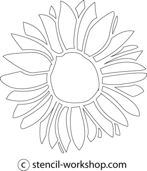 printable sunflower template 8 best images of sunflower stencil printable sunflower
