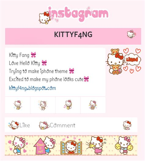 themes line hello kitty kitty fang hello kitty instagram theme iphone