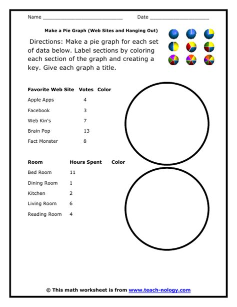 circle graphs printable worksheets make a pie graph web sites and hanging out