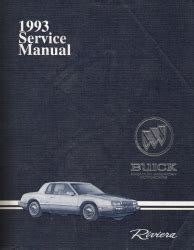 service repair manual free download 1993 buick riviera engine control service manual 1993 buick riviera factory service manual 1993 buick roadmaster factory