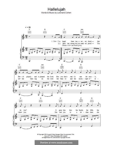 printable lyrics hallelujah alexandra burke guitar 187 guitar chords hallelujah music sheets