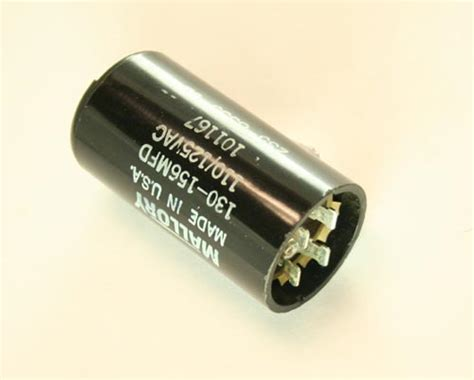 motor start capacitor mallory 101167 mallory capacitor 130uf 110v application motor