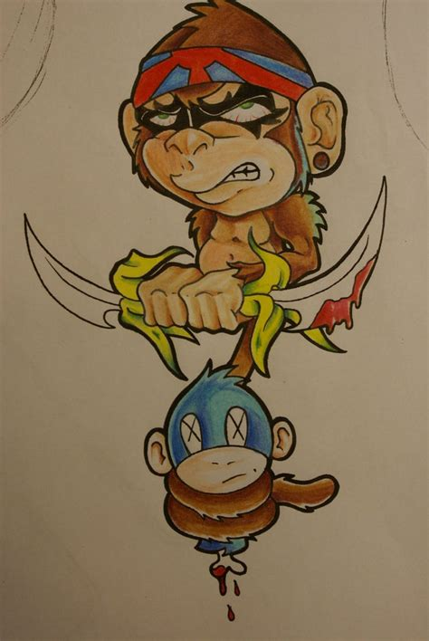 ninja monkey tattoo monkey by cxsr9 on deviantart