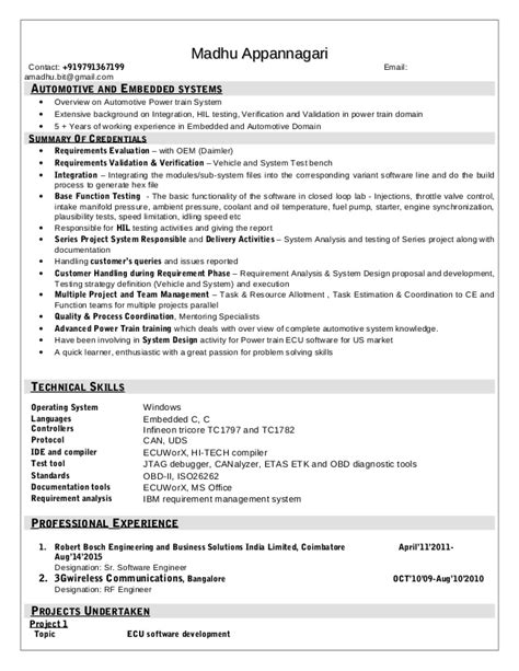 Embeded System Engineer Sle Resume by Embedded System Resume India 28 Images Recommendations Embedded Systems Engineer Werkstudent