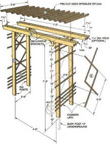 garden arch plans how to build a simple entry arbor gardens like you and