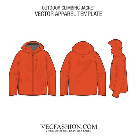 desain vektor jaket outdoor climbing jacket vector template vecfashion