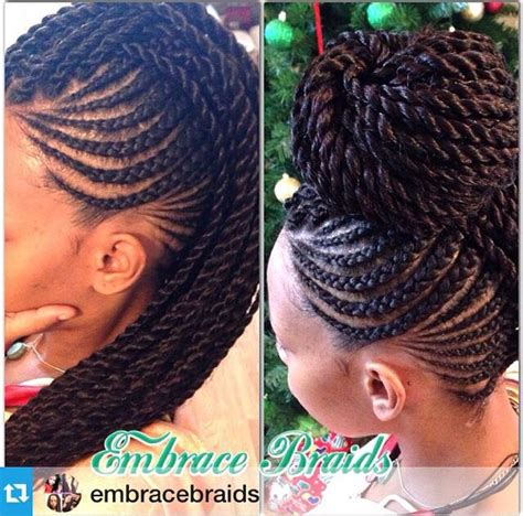 Mohawk Style With Twist | senegalese twists in a mohawk hair pinterest mohawks