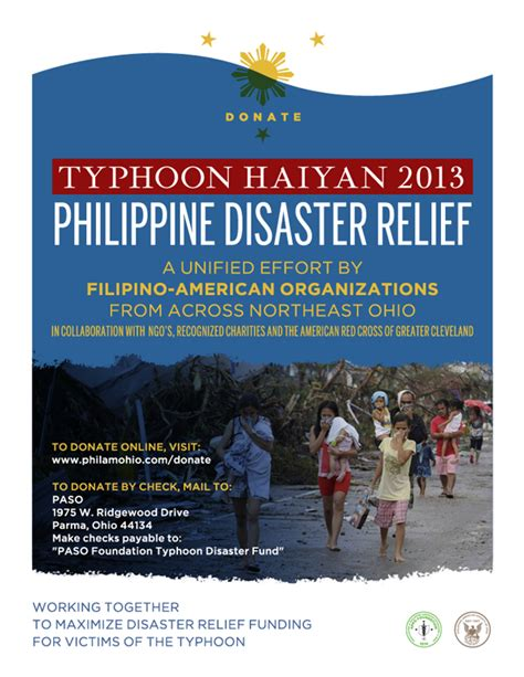 Fundraising Letter For Disaster Relief Typhoon Haiyan 2013 Philippine Disaster Relief Philamohio