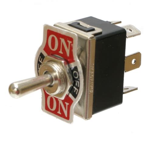Switch On heavy duty toggle switch dpdt on on