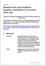 website t c template marketplace for services seller terms