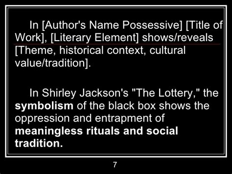 Irony In The Lottery Essay by Revising Your Essay