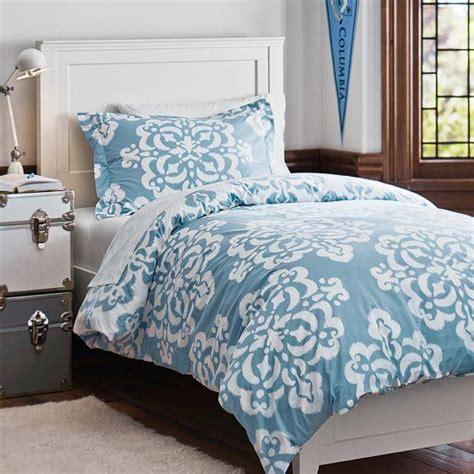 Bedcover Set Katun Polos Blue Grey ikat medallion essential duvet value from pbteen home
