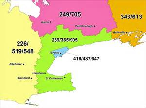 area code 226 canada map new 548 area code coming to southern ontario
