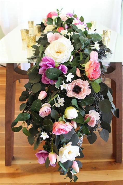 your own table runner diy floral table runner your own table runner with