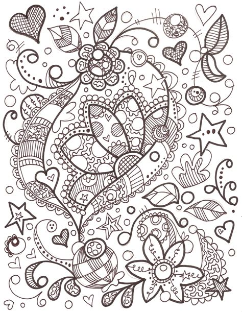 ideas for doodle pages girly doodle colouring pages