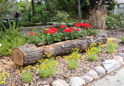 Tree Log Flower Planter by 12 Diy Log Decorating Ideas For Your Home And Garden
