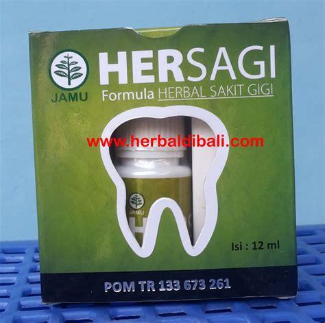 Hiu Herbal Sakit Gigi Hersagi 2 Ml jual hersagi herbal sakit gigi di denpasar bali jual