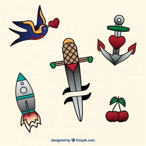 imagenes vectoriales simples pack de sencillos tatuajes dibujados a mano descargar