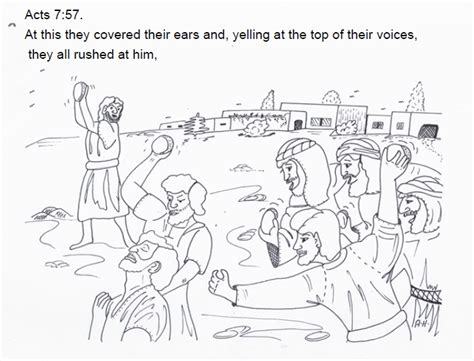 coloring pages bible stephen stephen was stoned sunday school lesson bible