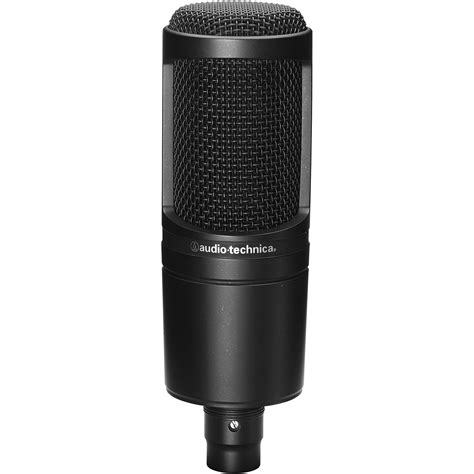 condenser microphone how audio technica at2020 cardioid condenser microphone at2020 b h