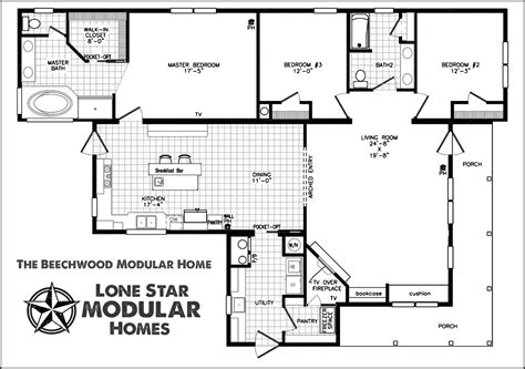 modular house floor plans the beechwood ranch style modular home floor plan