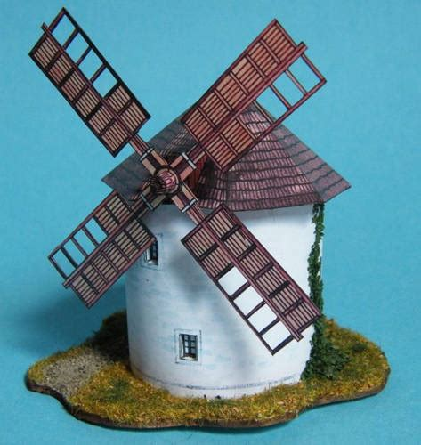 Windmill Papercraft - windmill ver 7 free building paper model